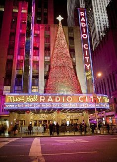 Radio City Music Hall is an entertainment venue located in Rockefeller Center in New York City. Its nickname is the Showplace of the Nation, and it was for a time the leading tourist destination in the city. Christmas Spectacular, A New York Minute, Empire State Of Mind, I Love Nyc, Radio City Music Hall, New York City Travel, City That Never Sleeps, Oh The Places You'll Go, New York Mets