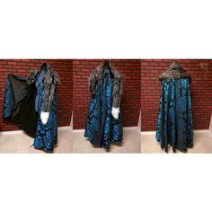 Game of Thrones cloak, GOT cosplay cloak, Sansa Stark costume cape,... ($425) ❤ liked on Polyvore featuring costumes, animal costumes, fox costume, fur costume, animal halloween costumes and role play costumes