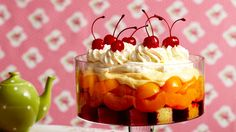 Classic trifle recipe - By Australian Women's Weekly, This lovely layered English dessert is great to share. It is perfect for adding a little something special to your next dinner party. Pudding Recipes, Cake Recipes, Dessert Recipes, English Desserts, Australian Food, Australian Recipes, Aussie Food, Trifle Recipe, Classic Desserts