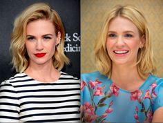 The 30 Hottest Bob Hairstyles for 2015: January Jones's Long Bob