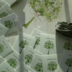 White daisy wedding tags,  personalised for my customer.  Just need to hand punch the holes and they're ready!