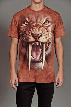 SABERTOOTH TIGER TEE by THE MOUNTAIN @ Jack Threads