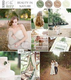 Design a Wedding around the beauty of nature : an inspiration board @BrendasWeddingBlog