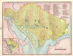 Original Antique US Map United States Map 1852 Mitchell