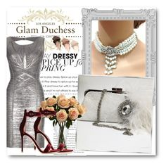 """""""Glam Duchess 6"""" by fashionmonsters ❤ liked on Polyvore featuring Paperchase, Hervé Léger, Nearly Natural, Gianvito Rossi and Urban Decay"""