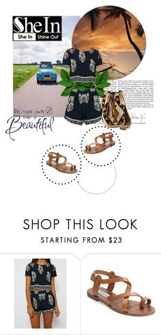 """summertime style"" by dina-97 ❤ liked on Polyvore featuring Steve Madden"