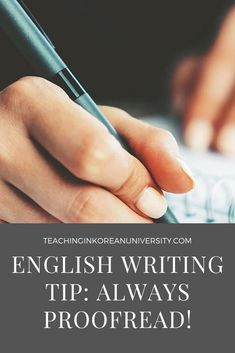 The biggest mistake you can make in ESL writing is to not proofread your work. Check out our proofreading tips, as well as a checklist you can use. English Writing, Teaching English, Better English, Proofreader, English Language Learners, Teaching Tips, Rubrics, Esl, Writing Tips