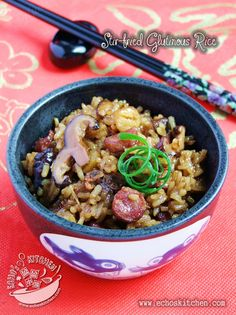 A taste of memories -- Echo's Kitchen: Stir-Fried Glutinous Rice (生炒糯米饭)