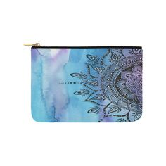 blue mandala Carry-All Pouch 9.5