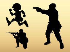 Soldier Silhouettes - Free Vector Site | Download Free Vector Art, Graphics