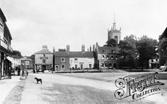 Market Place lovely old photo of Swaffham, Norfolk England Map, Norfolk England, Old Pictures, Old Photos, Old Street, The Good Place, Places To Visit, Street View, Family History