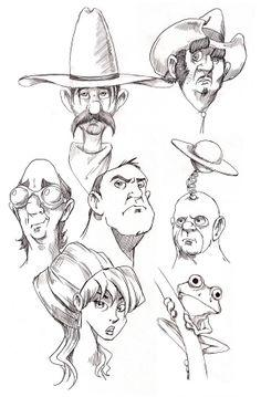 Sketchbook by Kevin Whelan, via Behance