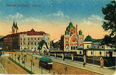 Fabric - cartierul mestesugarilor priceputi Jewish Temple, Romania, Mansions, House Styles, Fabric, Poster, Temples, Painting, Postcards