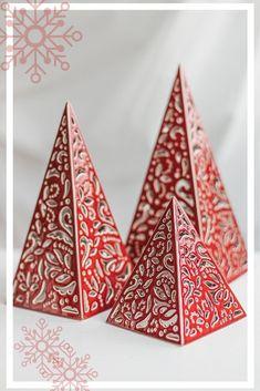Pyramides Teelichte 27 pièces par boîte de plus TRANSPARENT HOUSSE