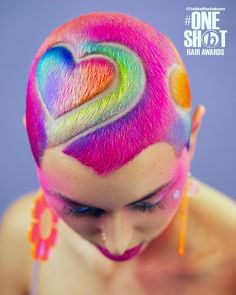 💜 SPREAD THE LOVE 💖 All hearts on this babe! What a fun collaboration with the incredible barber 💕 First she created this… Haare Tattoo Designs, Curly Hair Styles, Natural Hair Styles, Light Blue Hair, Shaved Hair Designs, Hair Tattoos, Hair Reference, Coloured Hair, Hair Brained