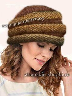 2017 женские шапки спицами