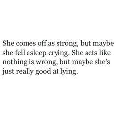 Tired of crying myself to sleep