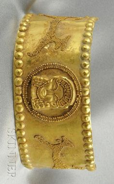 Etruscan- High-karat Gold Armlet