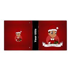 Christmas boy cartoon vinyl binders