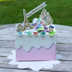 Jewelry Box Birthday Cake Card