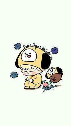 This is cute Bts Chibi, Bts Bangtan Boy, Bts Jimin, Fanart Bts, Loli Kawaii, Yongin, Bts Drawings, Bts Fans, About Bts