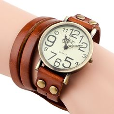 Find More Fashion Watches Information about 2015 New Cow leather Bracelet Watches Wrap Winding Ladies Women's Vintage Wrist watches,High Quality watch heart of stone,China watches sd Suppliers, Cheap watch retro from Mulan Fashion Accessories CO,LTD on Aliexpress.com