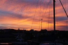 Sunset in Port Elizabeth, South Africa