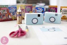 DIY kid camera from momtog.com <--- I will be making these for the girls this summer!!