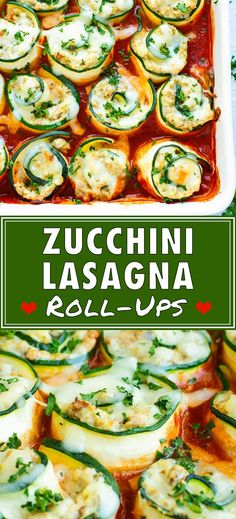 Keto Zucchini Lasagna Roll-Ups are an easy, healthy, and low-carb dinner meal idea. This zucchini lasagna recipe has all of the flavor of a traditional lasagna recipe without the unnecessary carbs. Plus, this is one of the best zucchini squash recipes th Zucchini Dinner Recipes, Gluten Free Recipes For Dinner, Veggie Recipes, Healthy Dinner Recipes, Vegetarian Recipes, Cooking Recipes, Recipe Zucchini, Carb Free Recipes, Gluten Free Dinners