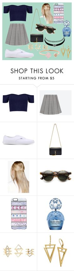 """""""?????"""" by annamacdonald20 ❤ liked on Polyvore featuring Zara, Vans, Yves Saint Laurent, Boohoo, Casetify, Marc Jacobs, Charlotte Russe and Michael Kors"""