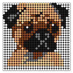 Kandi Patterns for Kandi Cuffs - Animals Pony Bead Patterns Pony Bead Patterns, Kandi Patterns, Hama Beads Patterns, Beading Patterns, Bracelet Patterns, Cross Stitch Charts, Cross Stitch Patterns, Pug Cross, Carlin