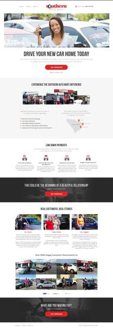 Re-designing landing page for Southern Auto Mart by Dmitrij