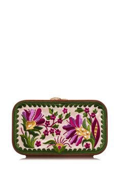 Shop Floral Brocade Embroidered In Summer Dream. This clutch by **Katrin Langer** features a floral brocade embroidered body and finished with a wooden frame. Summer Dream, Summer 2015, Spring Summer, Folk Fashion, Handbag Accessories, Fashion Accessories, Hippie Outfits, Market Bag, Clutch Wallet