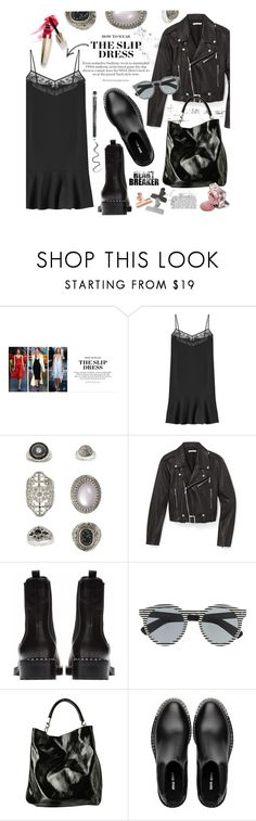 """""""What you are..."""" by clovers-mind ❤ liked on Polyvore featuring Carven, Topshop, Rebecca Minkoff, Miu Miu, Illesteva, Yves Saint Laurent, Barista & Co and slipdress"""