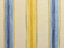 Blendworth Chettle Cotton Curtain Fabric - Mustard Blue - The Millshop Online #fabric