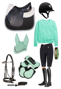 """Mint green riding set"" by walk-trot-canter ❤ liked on Polyvore featuring H&M"