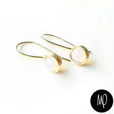 Zarcillos - Opalinas - Baño de oro