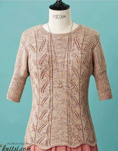 Dolman sleeve jumper knitting pattern