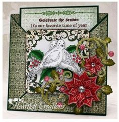 Heartfelt Creations Cling Stamp Set ~ DOVE OF PEACE Christmas, Birds ~ HCPC-3621