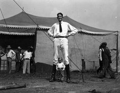 I love these old circus photos at the Circus World online collection site.