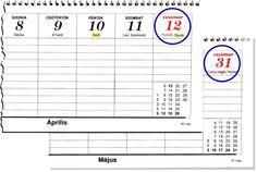 2015-ös asztali naptáramban, melyet a fóti Papírfeldolgozó Szövetkezet adott ki, hibás a Húsvét és a Pünkösd.