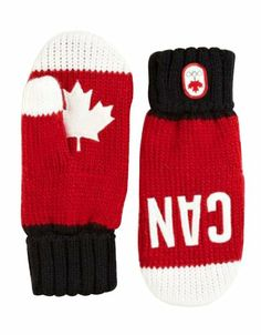 Canada Olympic Collection 2014 Snow Top Red Mittens got em! Red Mittens, Mitten Gloves, Winter Wear, Fall Winter, Canada Party, Olympic Idea, Hudson Bay, Winter Olympics, Usa Olympics