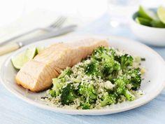 tabule de salmon y brocoli