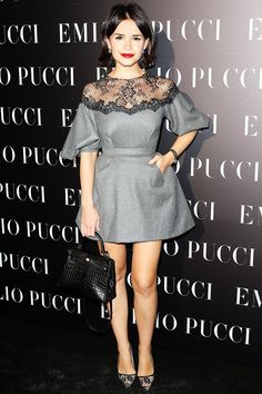 Miroslava Duma #beyondtherow... Love the lace detailing on this dress. Timeless style... Style tip: By wearing short and/or cropped garments, fashionistas with a petite frame can make them appear taller... For more styling tips and gorgeous clothing check out: https://www.sizeable.com.au/