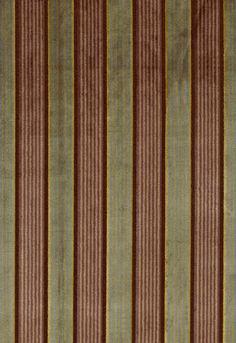 62702 Lynton Velvet Stripe Black Plum by F Schumacher Fabric