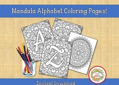 Printable Adult Coloring Pages, Alphabet Coloring Pages, Coloring Books, Word Bingo, Sight Word Flashcards, Learn To Spell, Learn To Count, Kindergarten Blogs, Alphabet Wall Art