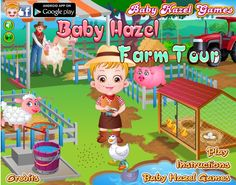 Baby Hazel is happy as uncle Sam takes her to his domestic farm. Go along with Hazel  for a farmhouse visit and enjoy feeding animals. Its also great fun to collect animal products such as milk, eggs and wool. http://www.babyhazelgames.com/games/baby-hazel-farm-tour.html