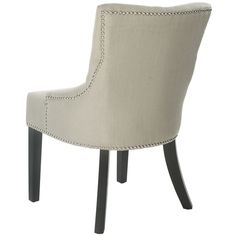 Safavieh Loire Beige Viscose Nailhead Dining Chairs (Set of 2) - Overstock Shopping - Great Deals on Safavieh Dining Chairs