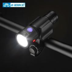 INBIKE Bike Accessories Bike LED Light 18650 USB Rechargeable Led Torch LED Flashlight Charging Remind Front Head Bicycle Light
