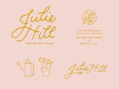 Dribbble - Julie Hill -- brand assets by M. Frances Foster